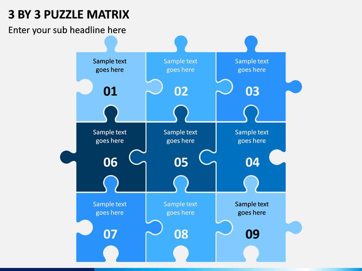 3 By 3 Puzzle Matrix PPT slide 1