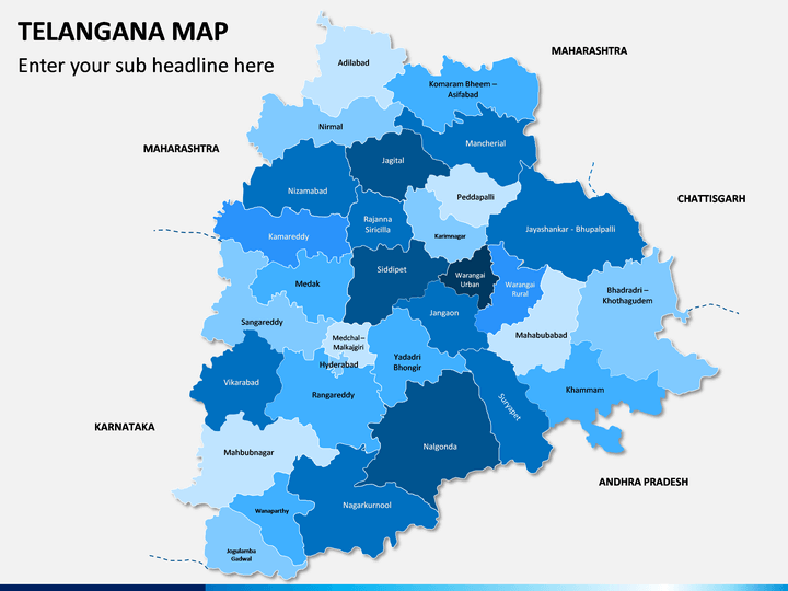 Telangana Map PPT Slide 1