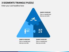 3 Segments Triangle Puzzle PPT Slide 1