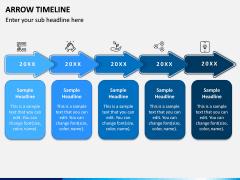 Arrow Timeline PPT Slide 1