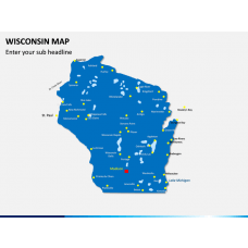 Wisconsin Map PPT Slide 1