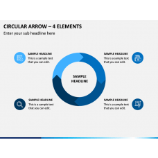 Circular Arrow – 4 Elements PPT Slide 1