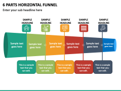 6 Parts Horizontal Funnel - Free PPT Slide 2