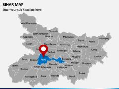 Bihar Map PPT Slide 2