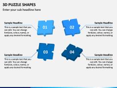 3D Puzzle Shapes PPT Slide 11