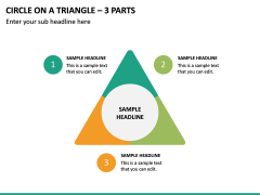 Circle on a Triangle – 3 Parts PPT Slide 2