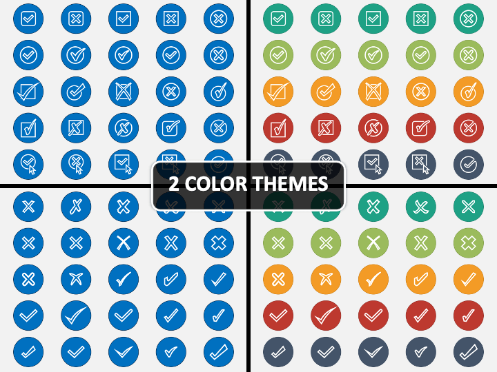 Tick and Cross Icons PPT Cover Slide
