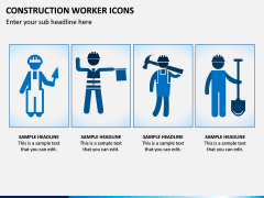 Construction Worker Icons PPT Slide 2