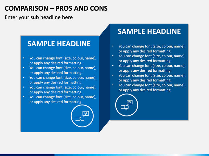Comparison - Pros And Cons PPT Slide 1