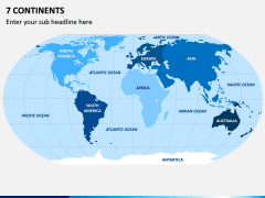Seven Continents Map PPT Slide