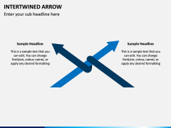 Interwined Arrow PPT Slide 8