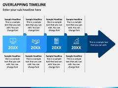 Overlapping Timeline PPT Slide 1