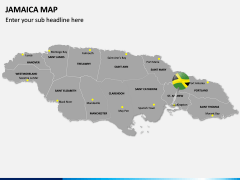 Jamaica Map PPT Slide 2