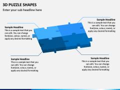 3D Puzzle Shapes PPT Slide 15