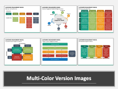 Customer Engagement Model PPT Multicolor Combined