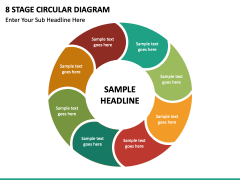 8 stage circular diagram free PPT slide 2