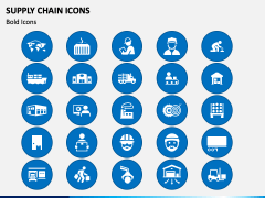 Supply Chain Icons PPT Slide 1