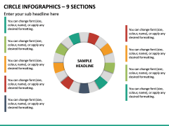 Circle Infographics – 9 Sections PPT Slide 2