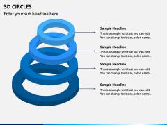 3D Circles PPT Slide 5