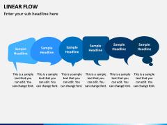 Linear Flow Infographics PPT Slide 3