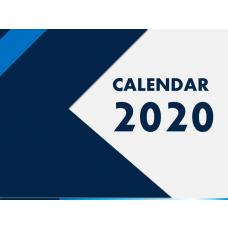 Calendar 2020 - Type 4 PPT Slide 1