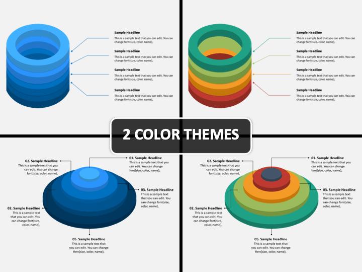 3D Circles PPT Cover Slide