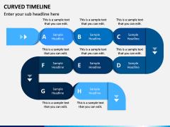 Curved Timeline PPT Slide 2