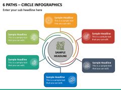 6 Paths - Circle Infographics PPT Slide 2