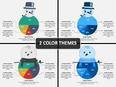 Snowman Pie Chart PPT Cover Slide