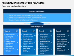 Program Increment Planning PPT Slide 6