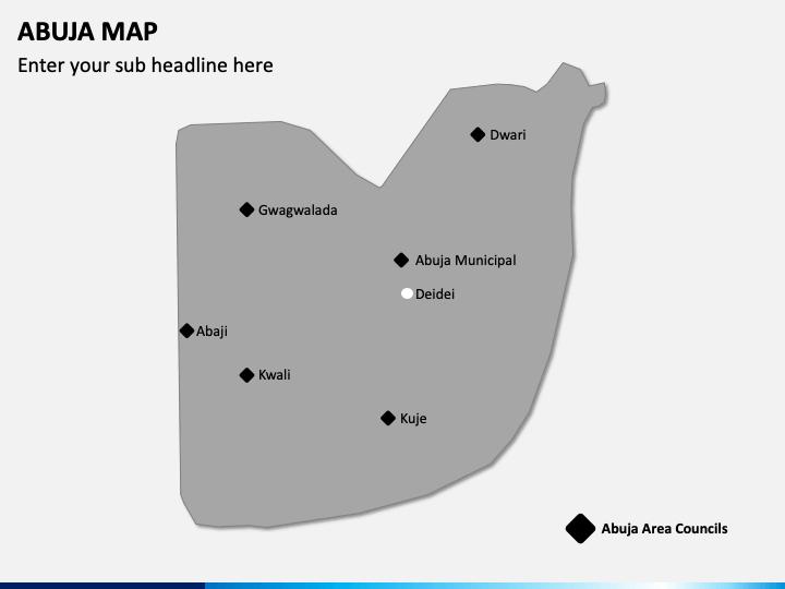 Abuja Map PPT Slide 1