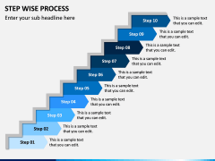 Step Wise Process PPT Slide 10