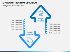 Top Down Bottom Up Arrow PPT Slide 1
