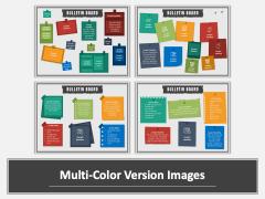 Bulletin Board Multicolor Combined