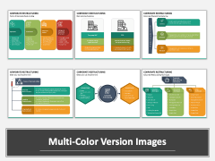 Corporate Restructuring PPT Multicolor Combined