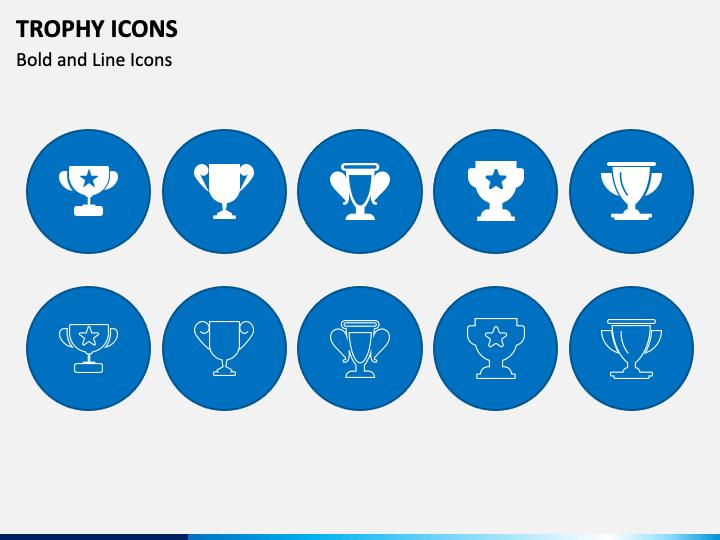 Trophy Icons PPT Slide 1