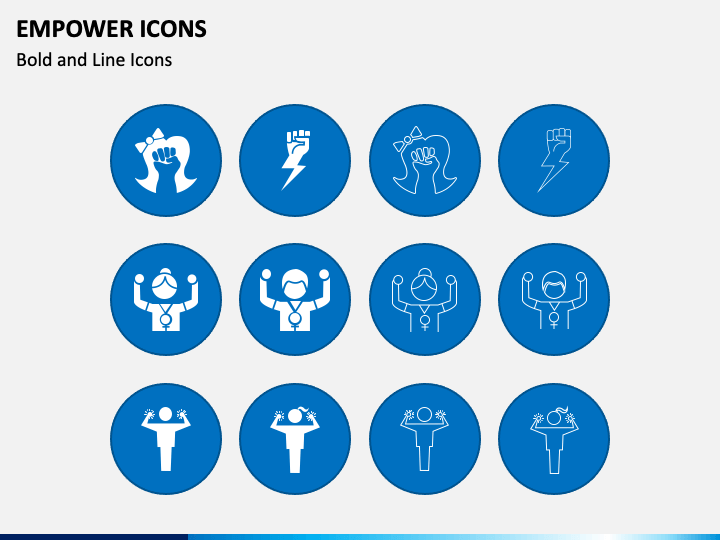 Empower Icons PPT Slide 1