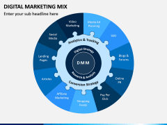 Digital Marketing Mix PPT Slide 1