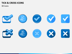Tick and Cross Icons PPT Slide 5