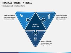 Triangle Puzzle - 4 Pieces PPT Slide 1