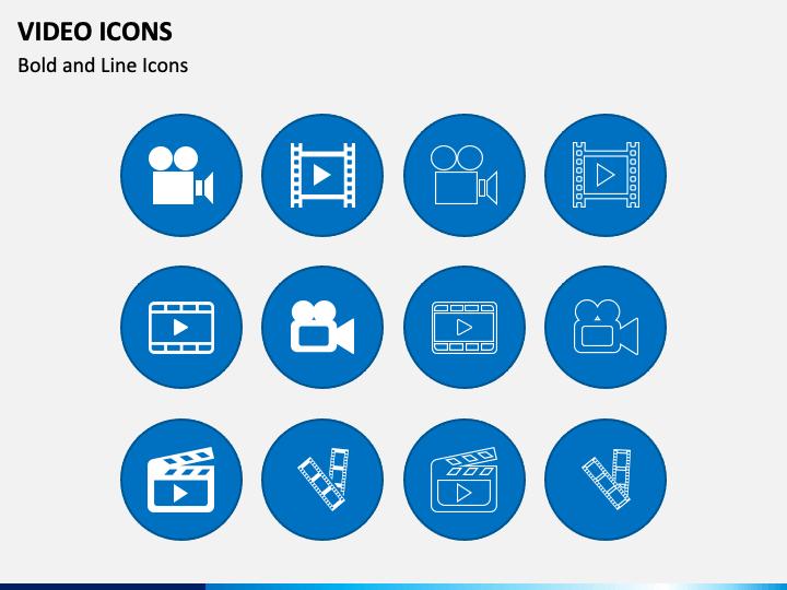 Video Icons PPT Slide 1
