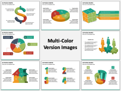3D Puzzle Shapes Multicolor Combined