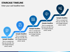Stairs Timeline PPT Slide 3