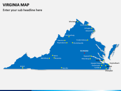 Virginia Map PPT Slide 1