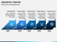 Sequential Timeline PPT Slide 1