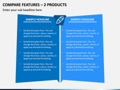 Compare Features - 2 Products PPT Slide 1