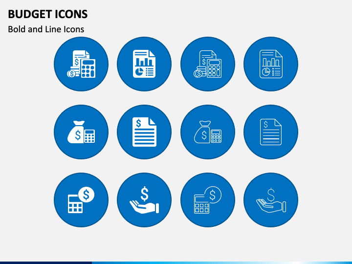 Budget Icons PPT Slide 1
