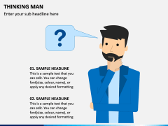 Thinking Man PPT Slide 7