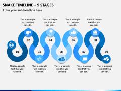 Snake Timeline - 9 Stages PPT Slide 1
