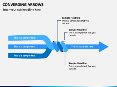 Converging Arrows PPT Slide 4